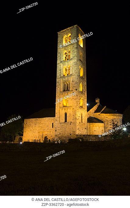 San Climent de Taull church by night Boi valley Lleida Catalonia Spain