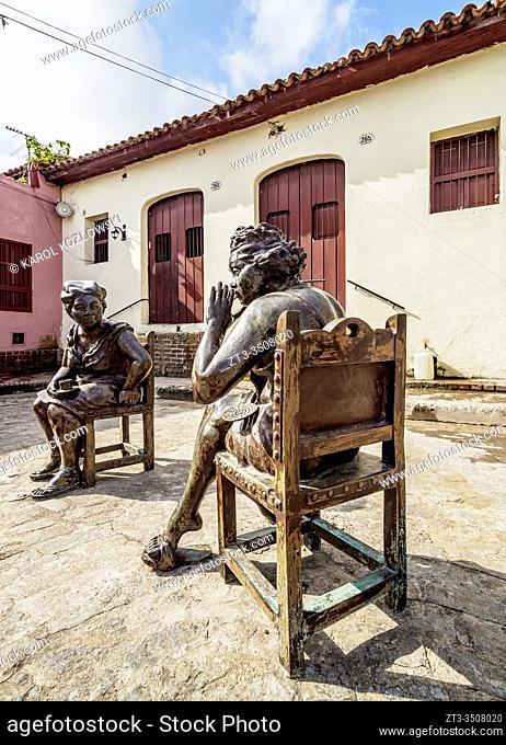 Martha Jimenez Perez Sculptures, Plaza del Carmen, Camaguey, Camaguey Province, Cuba