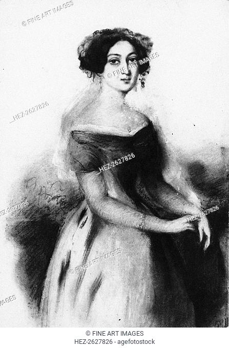 Portrait of Princess Nino Chavchavadze, c. 1830. Artist: Anonymous