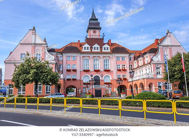 Ilawa town hall in Warmian Masurian Voivodeship of Poland