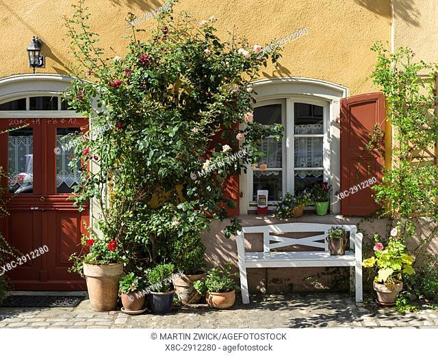 Old fishermen s houses on the river Regnitz, a quarter called Little Venice (Klein Venedig). Bamberg in Franconia, a part of Bavaria