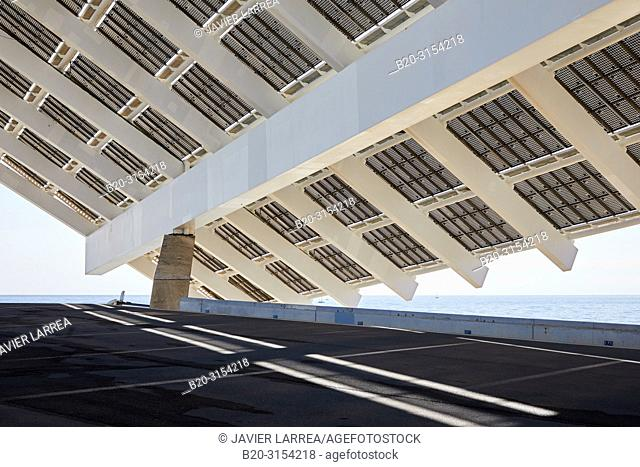 Photovoltaic pergola, by Elias Torres & José Antonio Martínez Lapeña, Forum, Barcelona, Catalunya, Spain, Europe