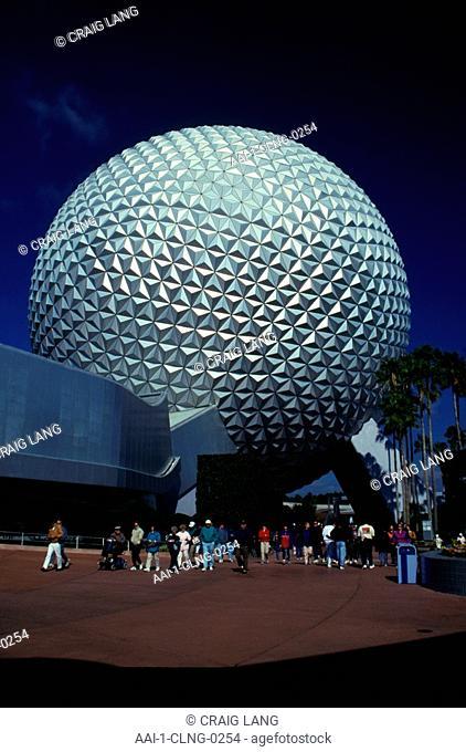 Epcot Centre, Close-up, Disney World, Orlando, Florida, USA
