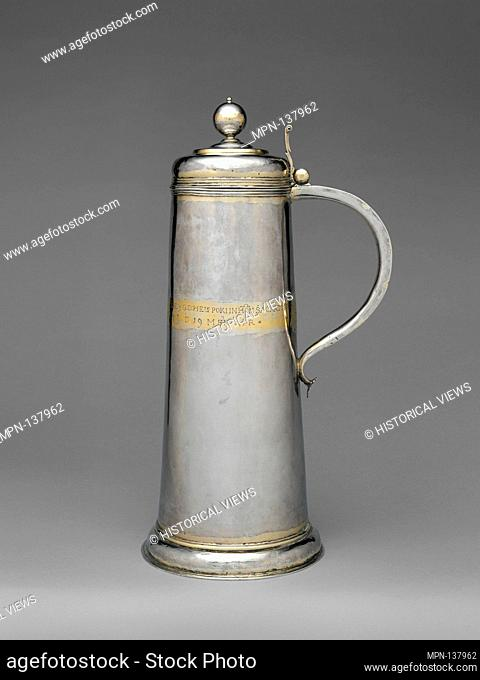 Communion jug. Date: 1639; Culture: Hungarian; Medium: Silver, partly gilded; Dimensions: Overall: 15 15/16 x 6 1/2 in. (40.5 x 16