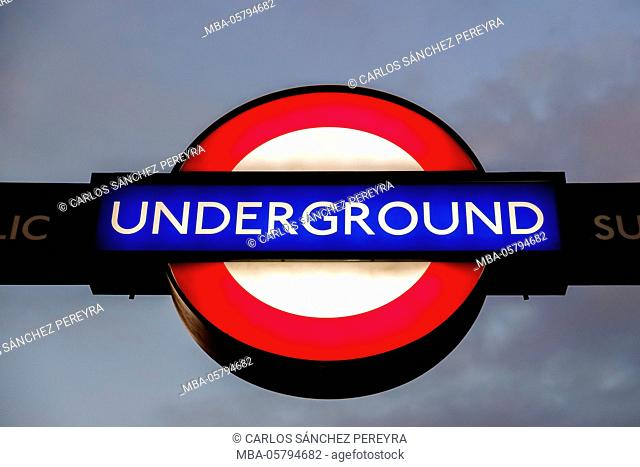 The Roundel, the Tube symbol in London, England