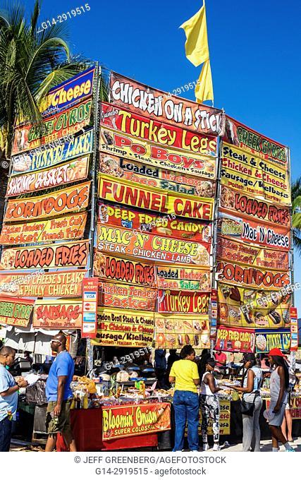 Florida, Miami Beach, Lummus Park, Gay Pride Week, LGBTQ, LGBT, Miami Beach Pride Festival, food vendor