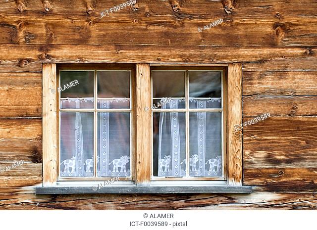Switzerland, Valais, Evolene, house