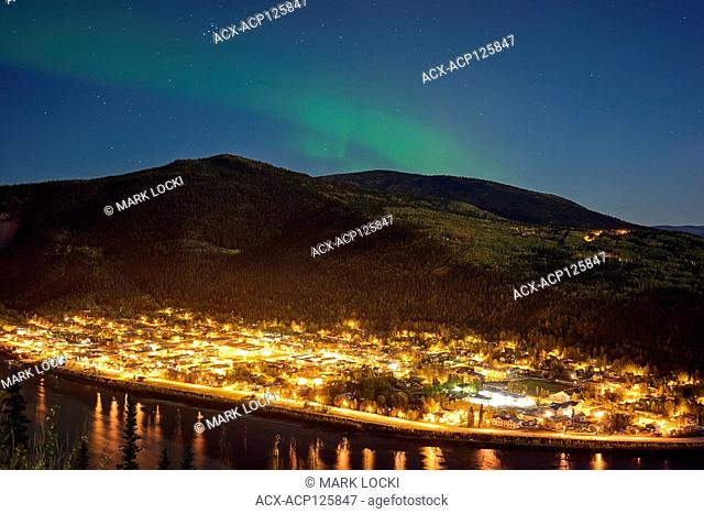 Northern Lights (Aurora Borealis) over Dawson City, Yukon Territory, Canada