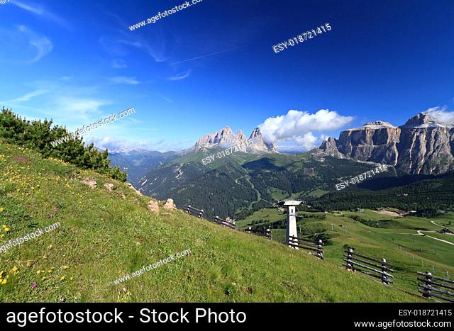 Dolomites landscape - Fassa valley
