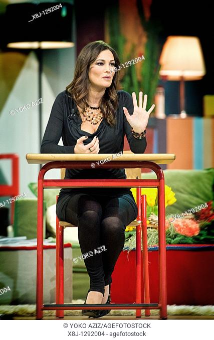 Manuela Arcuri, Telecast 'Kalispera', Canale 5, Milan, Italy, 2010