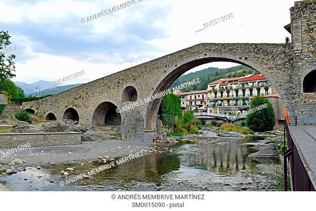 Medieval Bridge on the Rio Ter in Camprodón