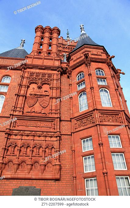 UK, Wales, Cardiff, Bay, Pierhead Building,