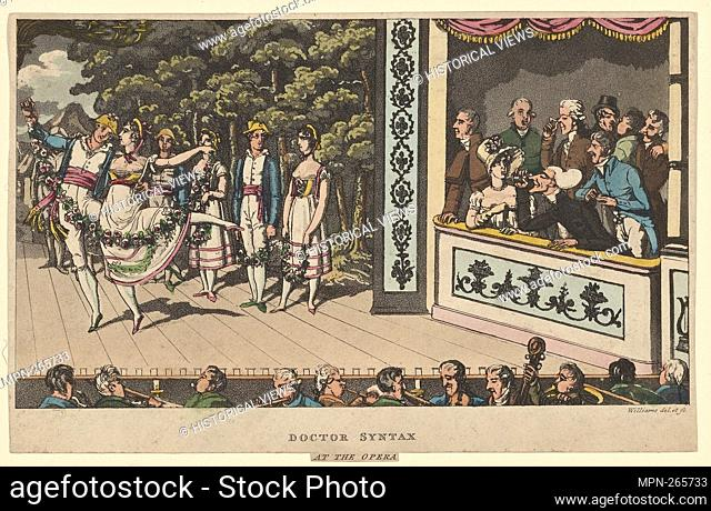 Dr. Syntax at the Opera. Additional title: Caricature. Bias, Fanny, 1789-1825. Prints depicting dance Theatrical dancers, singly or in pairs