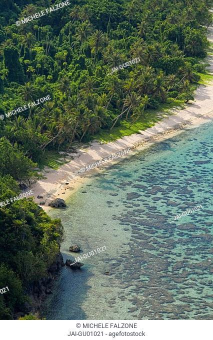 Beach and Coral Reef, Tumon Bay, Guam USA, Micronesia
