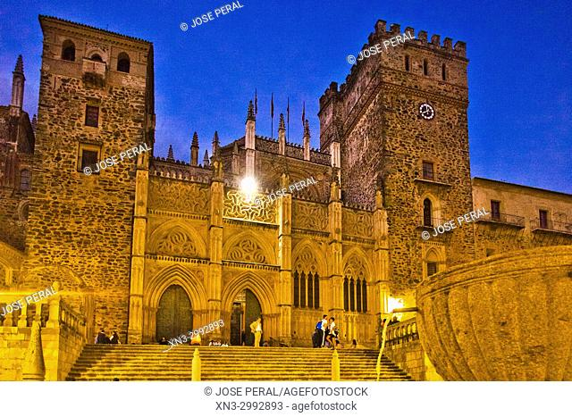 Royal Monastery of Santa Maria de Guadalupe, Real Monasterio de Nuestra Señora de Guadalupe, UNESCO World Heritage Site, Guadalupe town, Caceres Province