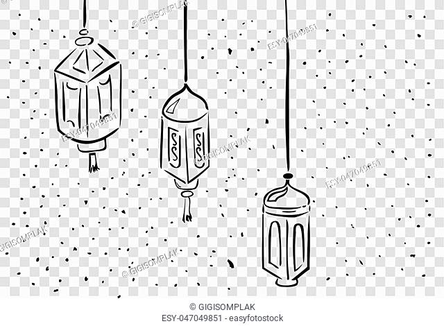vector Hand Draw sketch of Lantern