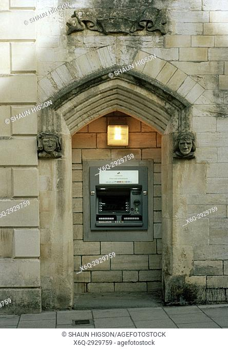 Modern ATM in Bradford on Avon in Wiltshire in England in Great Britain in the United KingdomUK Europe