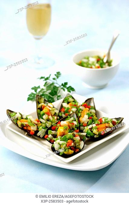 Sweet-sour mussels