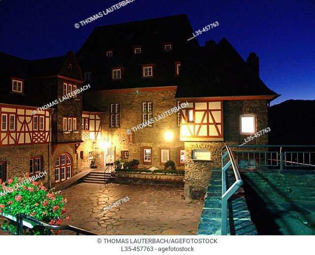 "German youth hostel ""Burg Stahleck"". Bacharach, Rhine River, Rhineland-Palatinate. Germany"
