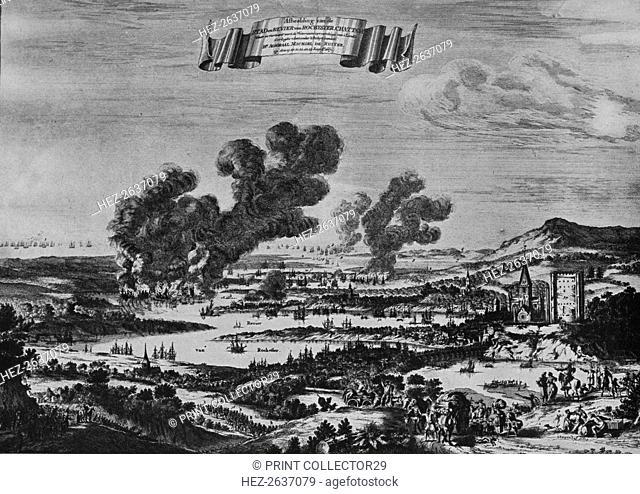 'Holland's Raid on the Thames', c1668. Artist: Willem Schellinks