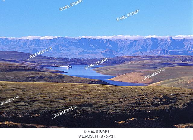 Sterkfontein Dam Nature Reserve, near R74 to Harrismith, Free State, Drakensberg, South Africa