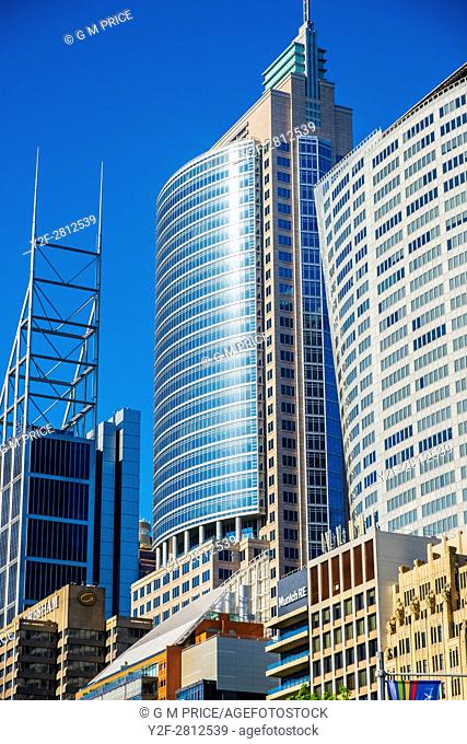 Sydney corporate high rise along Macquarie Street