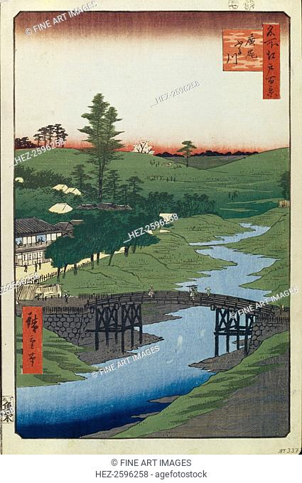 Hiroo on Furukawa River (One Hundred Famous Views of Edo), 1856-1858. Found in the collection of the State Hermitage, St. Petersburg