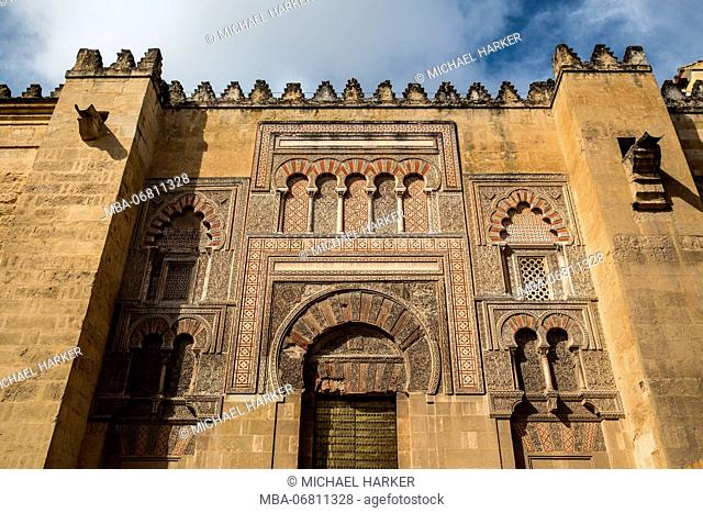 Europe, Spain, Andalusia, Cordoba, facade of the Mezquita