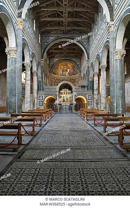 san miniato al monte church, florence, tuscany, italy