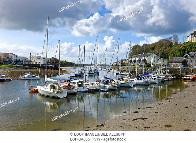 Porthmadog harbour at low water