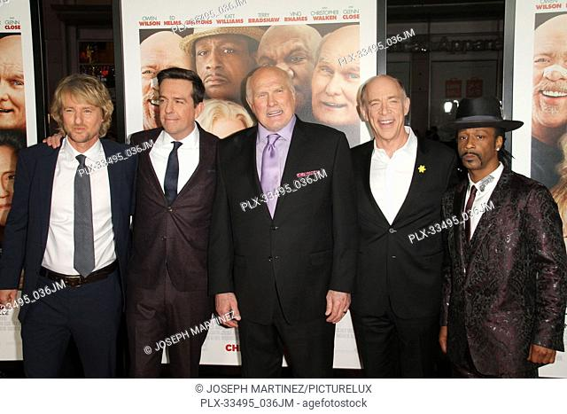 """Owen Wilson, Ed Helms, Terry Bradshaw, J.K. Simmons, Katt Willia at the Premiere of Warner Bros' """"""""Father Figures"""""""" held at the TCL Chinese Theater in Hollywood"""