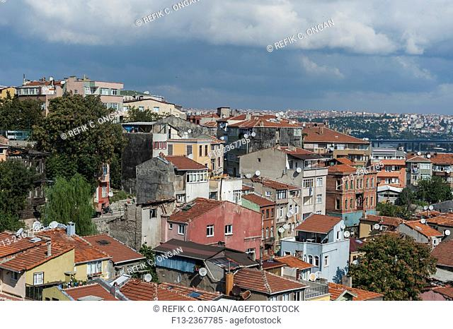 Istanbul cityscape main district in Taksim area