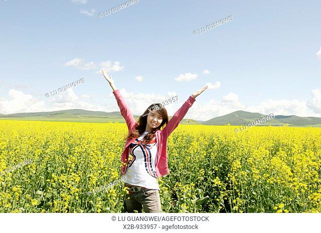 July 2009,Hulunbeir,Inner Mongolia, China  Rapeseed field