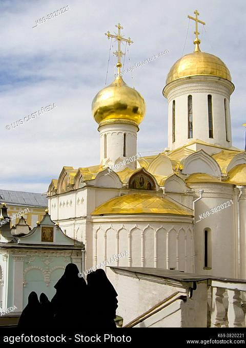 The Trinity Monastery of St. Sergius. . Lavra (Moscow) Russian Federation
