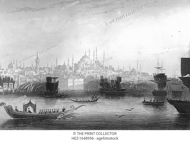 Constantinople (Istanbul), Turkey, 1857. From England's Battles by Sea and Land, volume II: Russia and Turkey, by Lieutenant Colonel Williams