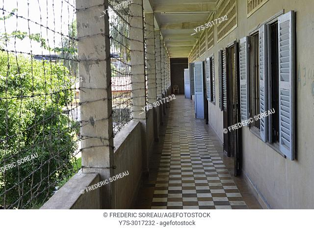 Tuol Sleng Genocide Museum, Phnom Penh, Cambodia, South East Asia, Asia