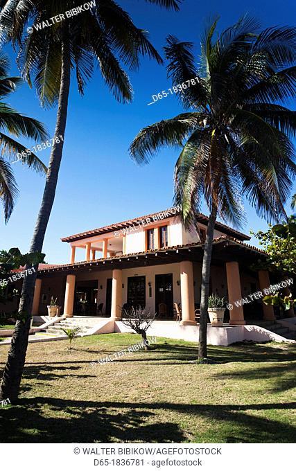 Cuba, Matanzas Province, Varadero, Hotel Cuatro Palmas, once the personal residence of former Cuban dictator Fulgencio Batista