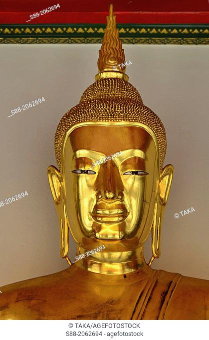 Golden Buddha at Wat pho temple which is one of the biggest temple in Bangkok. There are more than 1,000 Buddha images in these temple