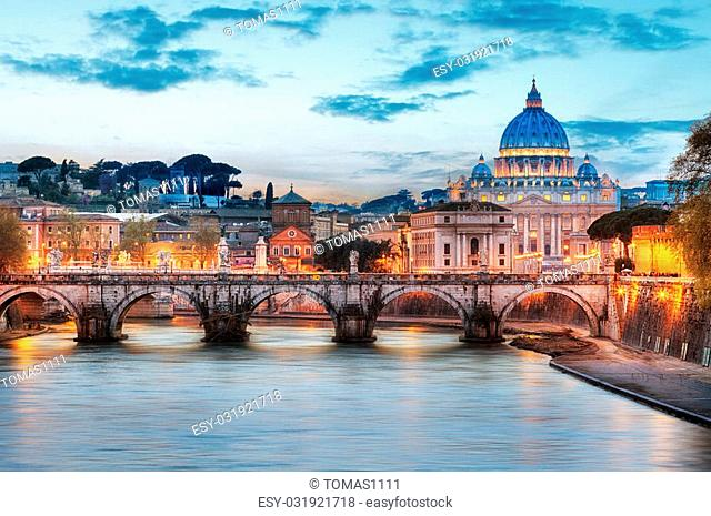 Rome - Vatican city at night