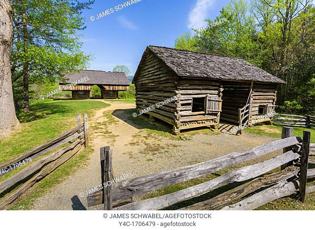 Tipton Place in Cades Cove in the Great Smoky Mountains National Park in Tennessee