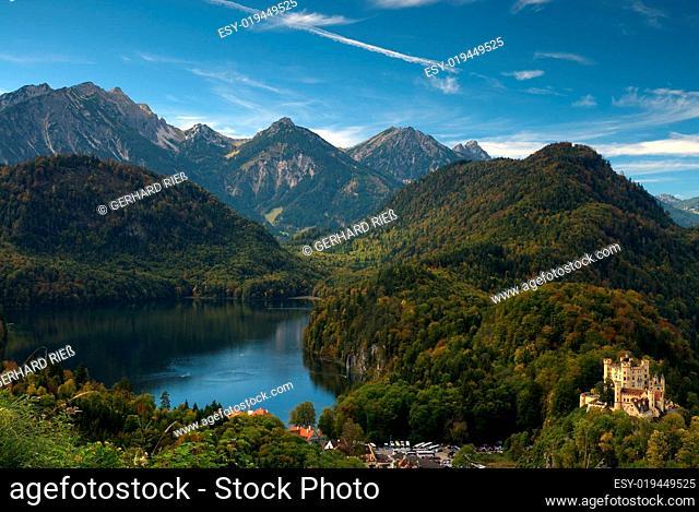 Schloss Hohenschwangau am Alpsee