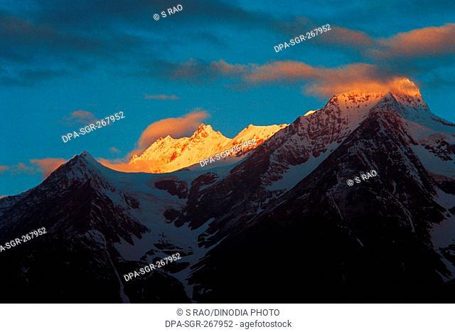 Snow covered mountain, keylong, himachal pradesh, India, Asia