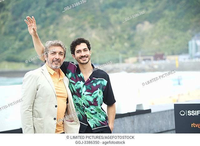 Ricardo Darin, Chino Darin attended 'La odisea de los Giles (Heoric Losers)' Photocall during 67th San Sebastian Film Festival at Kursaal Palace on September 23
