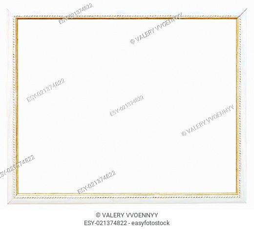 vintage narrow white picture frame