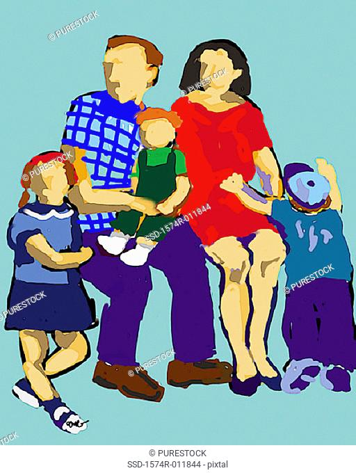 Family Portrait 2002 Diana Ong (b.1940/Chinese-American) Computer graphics