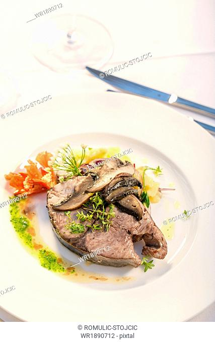Victor Fish With Mushrooms