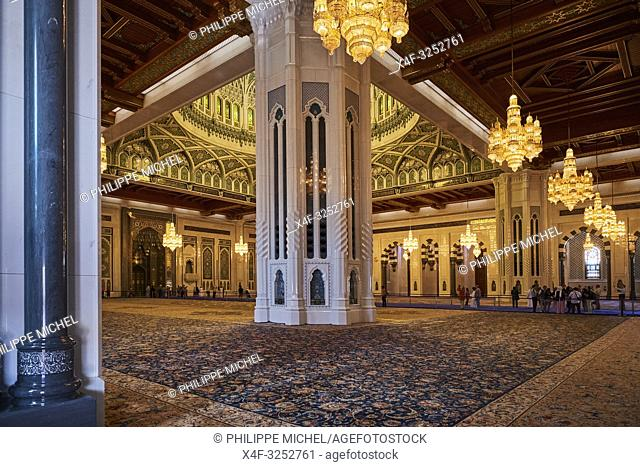 Sultant of Oman, Muscat, Sultan Qaboos Grand Mosque, prayer hall