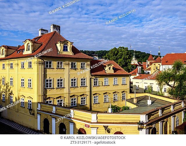 Mala Strana, Lesser Town, elevated view, Prague, Bohemia Region, Czech Republic