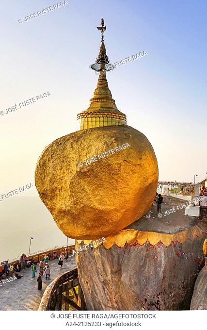 Myanmar ,Mon Province, Kyaikto City , Kyaiktiyo Rock (Golden Rock),