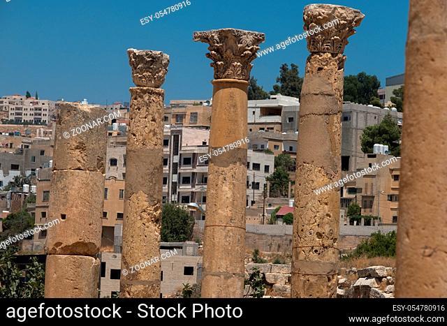 Jerash (Gerasa), ancient roman capital and largest city of Jerash Governorate, Jordan